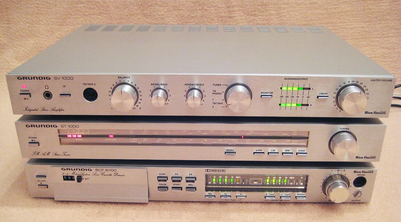 Grundig Scf 6100 Vintage Hifi Stereo Cassetten Recorder Tape Deck